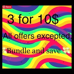 3 items for 10 dollars bundle and save